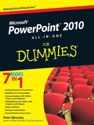 cover image of PowerPoint 2010 All-in-One For Dummies