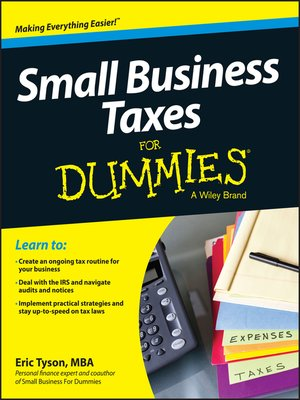 cover image of Small Business Taxes For Dummies