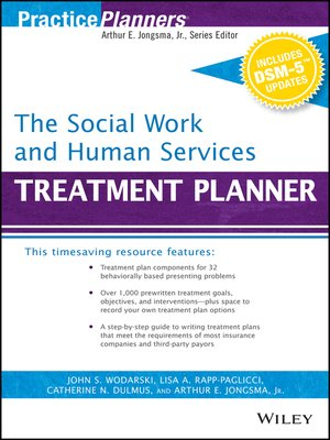 cover image of The Social Work and Human Services Treatment Planner, with DSM 5 Updates