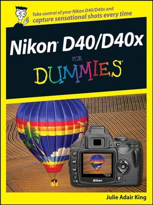cover image of Nikon D40/D40x For Dummies