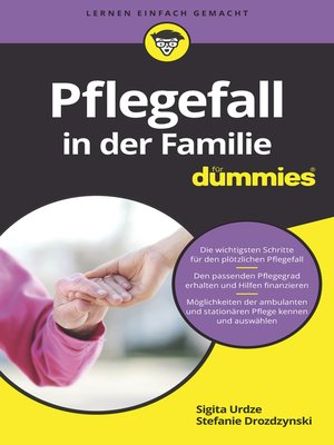 cover image of Pflegefall in der Familie für Dummies