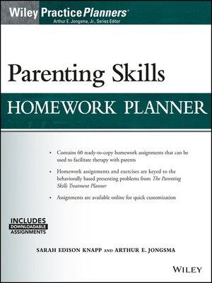 cover image of Parenting Skills Homework Planner
