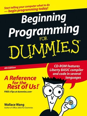 cover image of Beginning Programming for Dummies