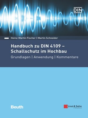 cover image of Handbuch zu DIN 4109--Schallschutz im Hochbau