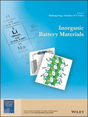 cover image of Inorganic Battery Materials