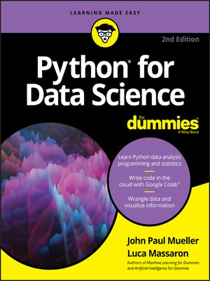 cover image of Python for Data Science For Dummies