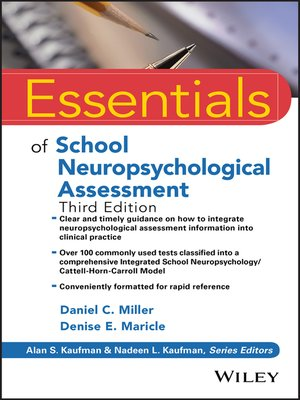 cover image of Essentials of School Neuropsychological Assessment