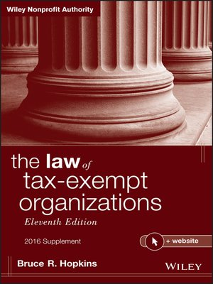 cover image of The Law of Tax-Exempt Organizations, 2016 Supplement