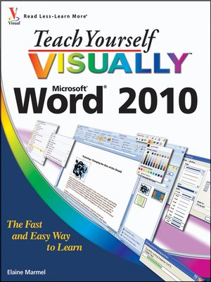 cover image of Teach Yourself VISUALLY Word 2010
