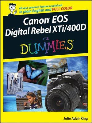 cover image of Canon EOS Digital Rebel XTi/400D For Dummies