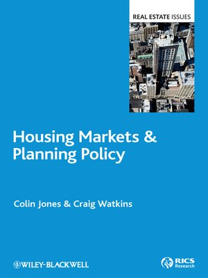 cover image of Housing Markets and Planning Policy