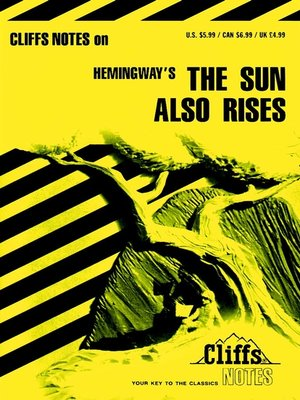 cover image of CliffsNotes on Hemingway's The Sun Also Rises