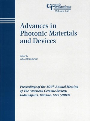 cover image of Advances in Photonic Materials and Devices