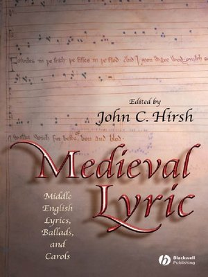 cover image of Medieval Lyric