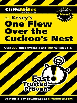 cover image of CliffsNotes on Kesey's One Flew Over the Cuckoo's Nest
