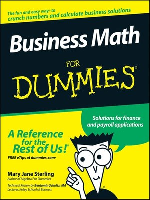 cover image of Business Math For Dummies