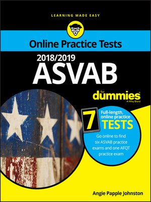 cover image of 2018/2019 ASVAB For Dummies with Online Practice
