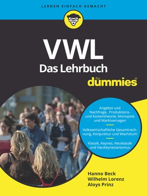 cover image of VWL für Dummies. Das Lehrbuch