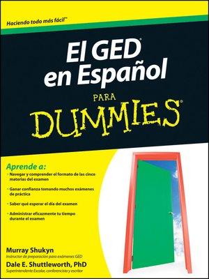 cover image of El GED en Espanol Para Dummies