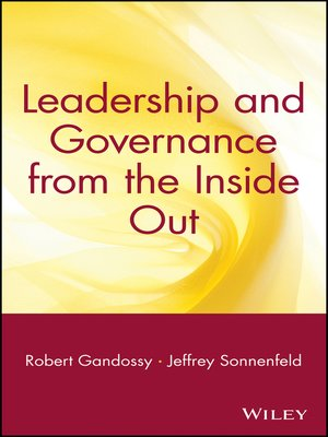 cover image of Leadership and Governance from the Inside Out