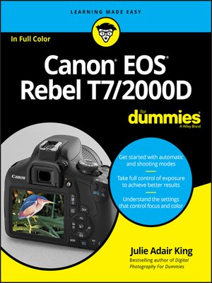 cover image of Canon EOS Rebel T7/2000D For Dummies
