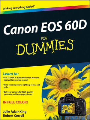 cover image of Canon EOS 60D For Dummies