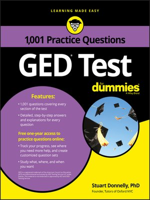 cover image of 1,001 GED Practice Questions For Dummies