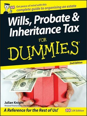 cover image of Wills, Probate, & Inheritance Tax For Dummies
