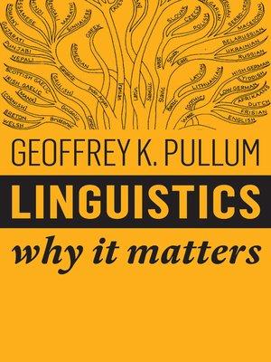 cover image of Linguistics