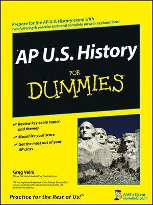 cover image of AP U.S. History For Dummies®
