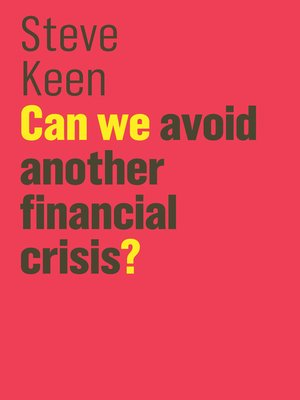 cover image of Can We Avoid Another Financial Crisis?