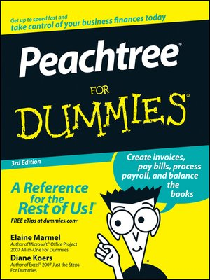 cover image of Peachtree for Dummies