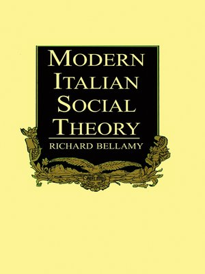 cover image of Modern Italian Social Theory