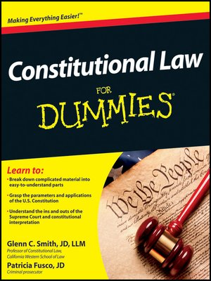 cover image of Constitutional Law For Dummies