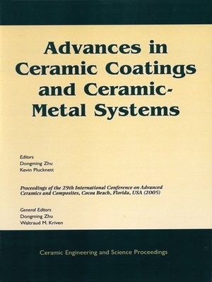 cover image of Advances in Ceramic Coatings and Ceramic-Metal Systems