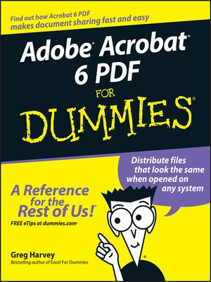 cover image of Adobe Acrobat 6 PDF For Dummies