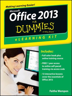 cover image of Office 2013 eLearning Kit For Dummies