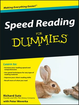 cover image of Speed Reading For Dummies