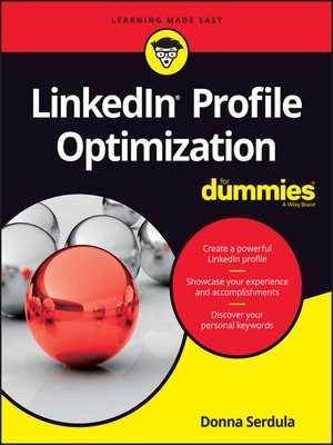cover image of LinkedIn Profile Optimization For Dummies