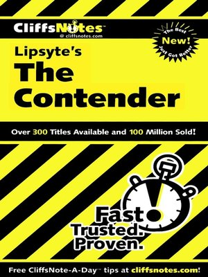 a plot review of robert lipsytes novel the contender Discover new books and write reviews on yabookscentralcom, the only social network devoted to young adult and children's books check out our giveaways and exclusive cover reveals for the latest in ya releases.