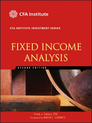 cover image of Fixed Income Analysis