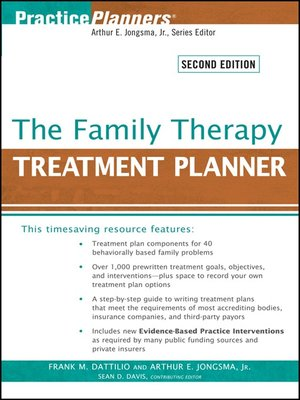 cover image of The Family Therapy Treatment Planner