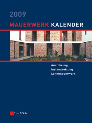 cover image of Mauerwerk-Kalender 2009