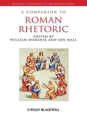 cover image of A Companion to Roman Rhetoric
