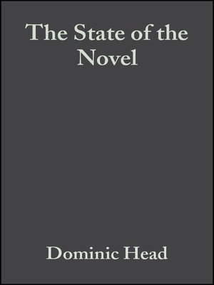 cover image of The State of the Novel