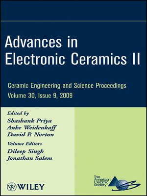 cover image of Advances in Electronic Ceramics II