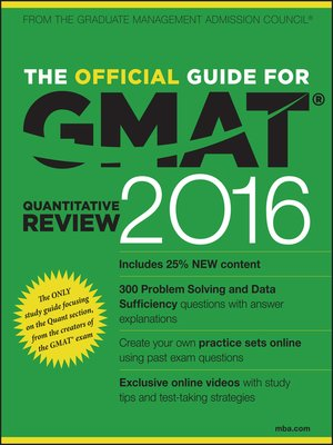 cover image of The Official Guide for GMAT Quantitative Review 2016 with Online Question Bank and Exclusive Video