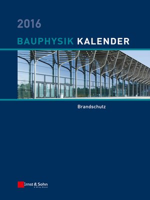 cover image of Bauphysik Kalender 2016