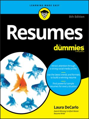 cover image of Resumes For Dummies