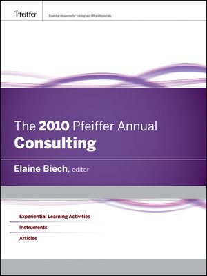 cover image of The 2010 Pfeiffer Annual